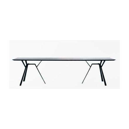"""Fast Gartentisch """"Radice Quadra"""", Gestell und Tischplatte Aluminium schwarz, 290x90 cm"""