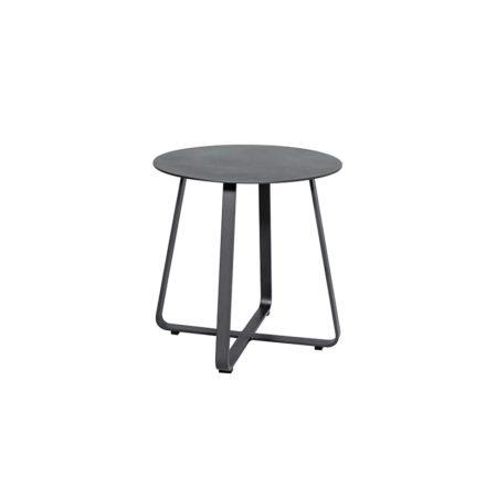 "Jati&Kebon ""Elko"" Beistelltisch, Aluminium eisengrau, ∅ 45 cm"