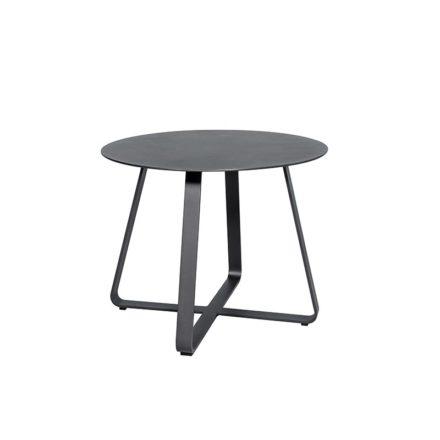 "Jati&Kebon ""Elko"" Beistelltisch, Aluminium eisengrau, ∅ 60 cm"