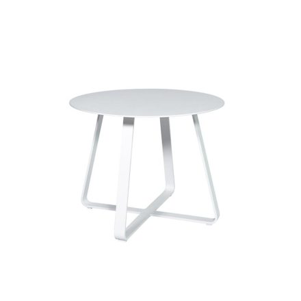 """Jati&Kebon """"Elko"""" Beistelltisch, Aluminium weiß, ∅ 60 cm"""