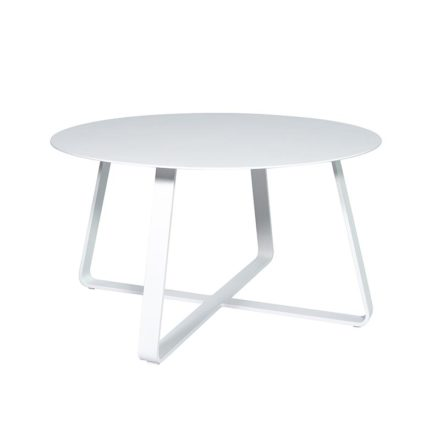 """Jati&Kebon """"Elko"""" Beistelltisch, Aluminium weiß, ∅ 90 cm"""