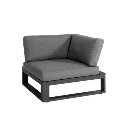 "Jati & Kebon Lounge-Eckteil ""Virginia"", Gestell Aluminium eisengrau, Polster Sunbrella® schiefergrau"