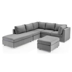 """Kettler Loungegruppe """"Lavi"""", Gestell Aluminium, Sitzpolster grau meliert"""