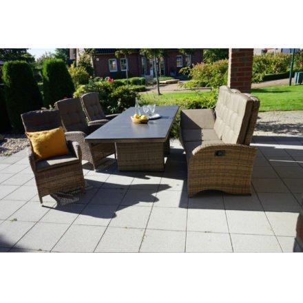 """Ploß """"Rabida"""" Dining-Set mit 3-Sitzer Comfort-Sofa, 3 Dining-Sesseln und Dining-Tisch (ohne Dekokissen)"""