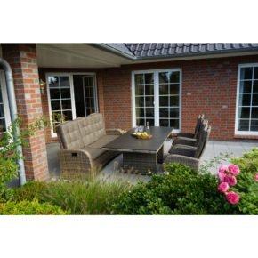 """Ploß """"Rabida"""" Dining-Set mit 3-Sitzer Comfort-Sofa, 3 Dining-Sesseln und Dining-Tisch"""