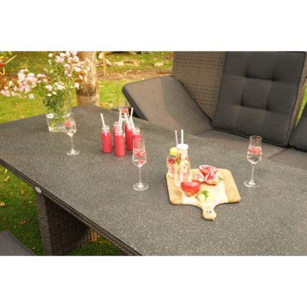 """Ploß """"Rocking"""" Dining-Set mit 3-Sitzer Comfort-Sofa, 3 Dining-Sesseln und Dining-Tisch"""