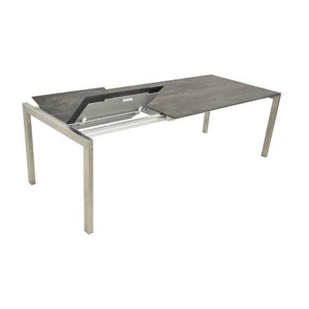 """SIT Mobilia Gartentisch """"Ventura"""", Gestell Edelstahl, Tischplatte mit 70 cm Klappeinlage"""