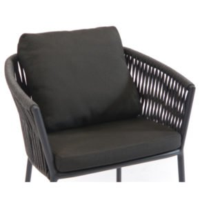 Fischer Möbel Sitz- und Rückenkissen für Gartensessel Cosmo, Farbe Charcoal