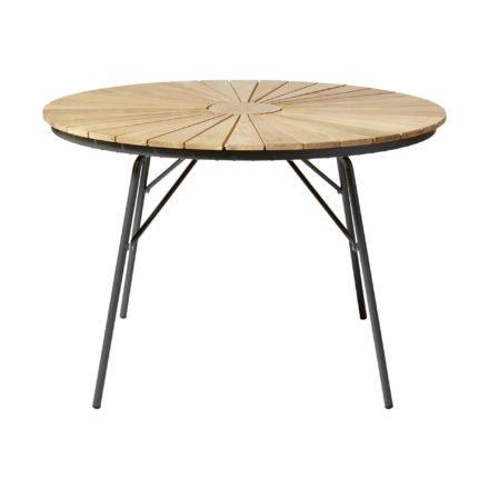 """Cinas Gartentisch """"Ellen"""", Gestell Aluminium anthrazit, Tischplatte Teakholz"""