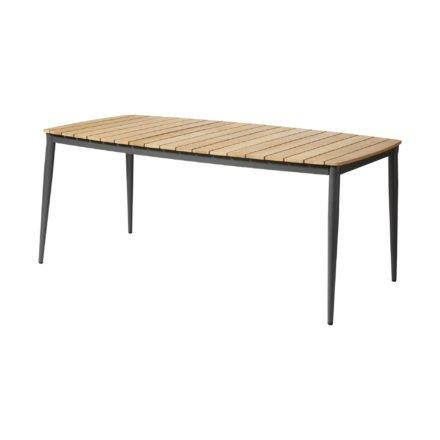 """Cinas Gartentisch """"Rio"""", Gestell Aluminium anthrazit, Tischplatte Teakholz"""