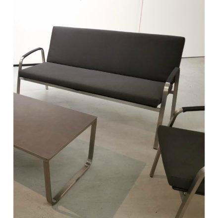"SIT Mobilia Loungesofa ""Santa Fe"", Gestell Edelstahl, Sitzfläche Leisuretex black pearl, Kissen Sunbrella® black pearl"