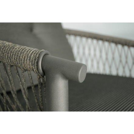 """SIT Mobilia Loungeserie """"Caracas"""", Gestell Aluminium eisengrau, Bespannung Rope Grey Lacak, Detail"""