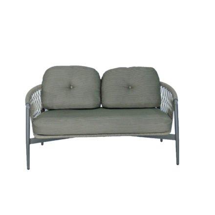 """SIT Mobilia Loungesofa """"Caracas"""", Gestell Aluminium eisengrau, Bespannung Rope Grey Lacak, Kissen Balian Graphite"""