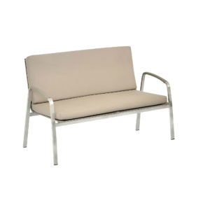 "SIT Mobilia Loungesofa ""Santa Fe"", Gestell Edelstahl, Sitzfläche Leisuretex taupe, Kissen Sunbrella® taupe"