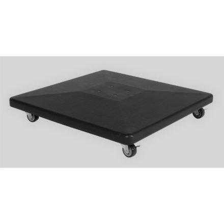 Tierra Outdoor, Bodenplatte aus Beton, mit Rollen und schwarzer Kunststoffabdeckung, 90 kg