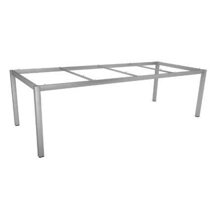 Stern Tischgestell Edelstahl Vierkantrohr, 250x100 cm