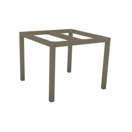 Stern Tischgestell Aluminium taupe, 90x90 cm