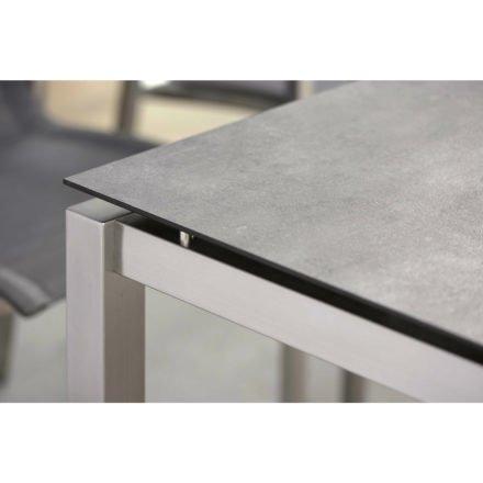 Stern Tischgestell Edelstahl Vierkantrohr, HPL