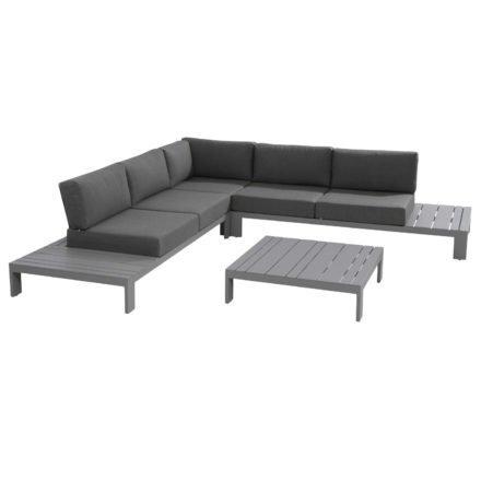 4Seasons Outdoor, Gestell Aluminium slate grey, Polster mit Bezug aus 100% Olefin