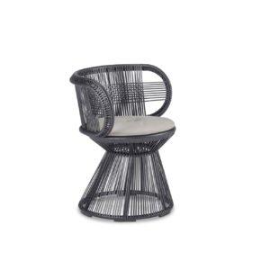 "DEDON Armlehnstuhl ""CIRQL"" mit Standfuß, Aluminiumgestell, DEDON Faser onyx"