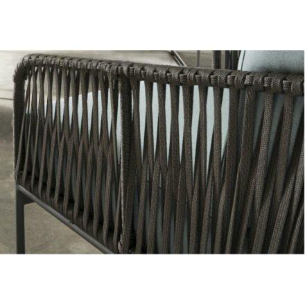 """SIT Mobilia Loungeserie """"Carvallo"""", Gestell Aluminium eisengrau, Bespannung Flatrope Java braun, Detail"""