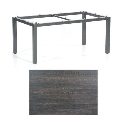 "SonnenPartner Tisch ""Base"", Gestell Aluminium anthrazit, Tischplatte HPL Mali wenge, 160x90 cm"