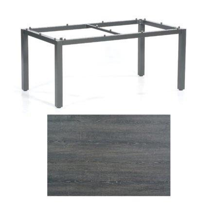 """SonnenPartner Tisch """"Base"""", Gestell Aluminium anthrazit, Tischplatte HPL Pinie dunkel, 160x90 cm"""