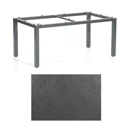 "SonnenPartner Tisch ""Base"", Gestell Aluminium anthrazit, Tischplatte HPL Struktura anthrazit, 160x90 cm"