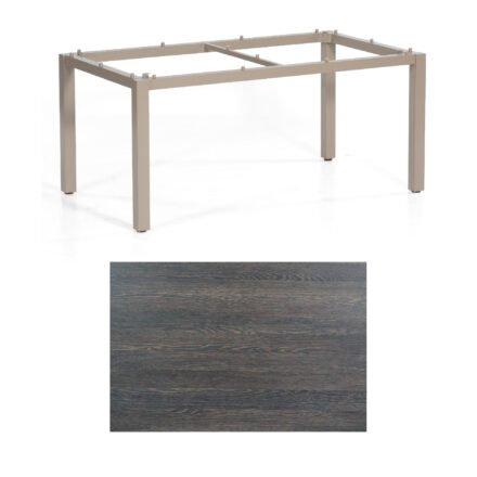"""SonnenPartner Tisch """"Base"""", Gestell Aluminium champagner, Tischplatte HPL Mali wenge, 160x90 cm"""