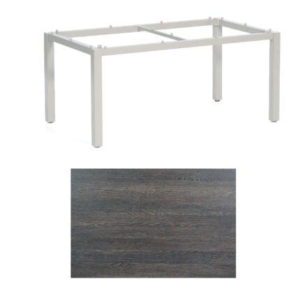 "SonnenPartner Tisch ""Base"", Gestell Aluminium silber, Tischplatte HPL Mali wenge, 160x90 cm"