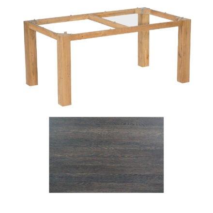 """SonnenPartner Tisch """"Base"""", Gestell Pure Teak, Tischplatte HPL Mali wenge, 160x90 cm"""