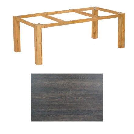 """SonnenPartner Tisch """"Base"""", Gestell Pure Teak, Tischplatte HPL Mali wenge, 200x100 cm"""