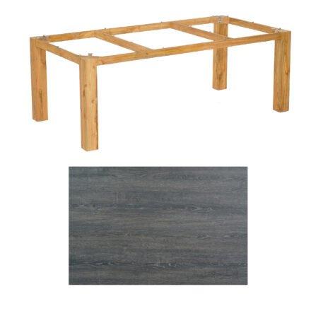 """SonnenPartner Tisch """"Base"""", Gestell Pure Teak, Tischplatte HPL Pinie dunkel, 200x100 cm"""