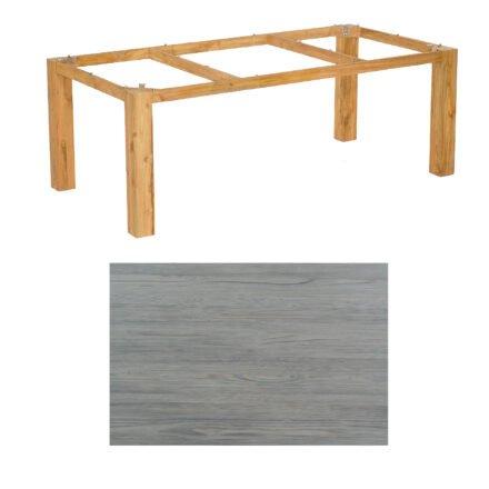 """SonnenPartner Tisch """"Base"""", Gestell Pure Teak, Tischplatte HPL Vintageoptik, 200x100 cm"""
