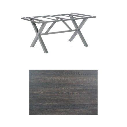 "SonnenPartner Tisch ""Base-Spectra"", Gestell Aluminium anthrazit, Tischplatte HPL Mali wenge, 160x90 cm"