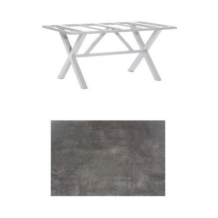 """SonnenPartner Tisch """"Base-Spectra"""", Gestell Aluminium silber, Tischplatte HPL Beton dunkel, 160x90 cm"""