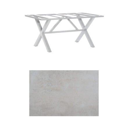 """SonnenPartner Tisch """"Base-Spectra"""", Gestell Aluminium silber, Tischplatte HPL Beton hell, 160x90 cm"""