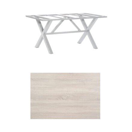 """SonnenPartner Tisch """"Base-Spectra"""", Gestell Aluminium silber, Tischplatte HPL Eiche sägerau, 160x90 cm"""