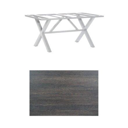 "SonnenPartner Tisch ""Base-Spectra"", Gestell Aluminium silber, Tischplatte HPL Mali wenge, 160x90 cm"