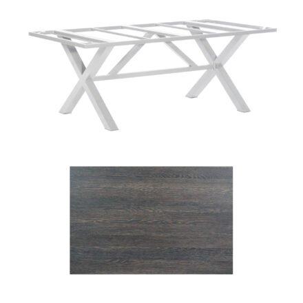 "SonnenPartner Tisch ""Base-Spectra"", Gestell Aluminium silber, Tischplatte HPL Mali wenge, 200x100 cm"