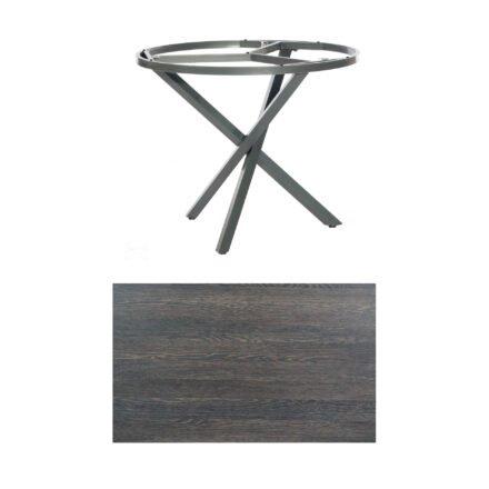 """SonnenPartner Tisch """"Base-Spectra"""", rund, Gestell Aluminium anthrazit, Tischplatte HPL Mali wenge, Ø 100 cm"""