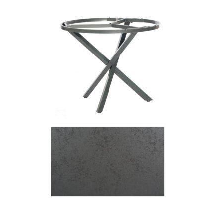 """SonnenPartner Tisch """"Base-Spectra"""", rund, Gestell Aluminium anthrazit, Tischplatte HPL Struktura anthrazit, Ø 100 cm"""