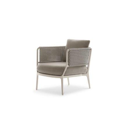 DEDON Loungesessel BELLMONDE, Aluminiumrahmen lipari, Faser silver gray