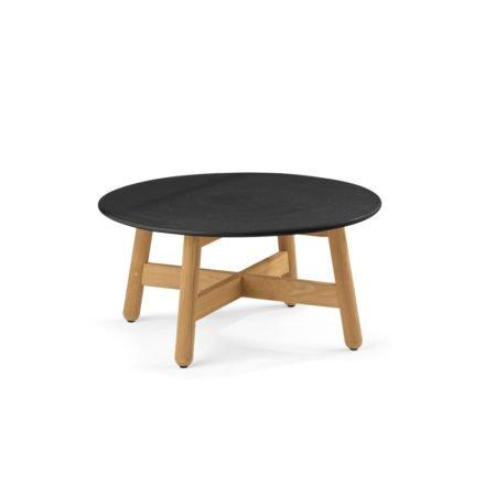 "Dedon Kaffeetisch ""MBRACE"", Untergestell Teakholz, Keramik-Tischplatte schwarz"