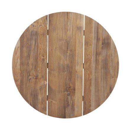 """Diamond Garden Tischplatte für Tischgestell """"San Marino"""", 3 Planken Recycled Teak Natur, Ø 120 cm"""