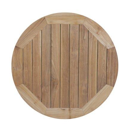 """Diamond Garden Tischplatte """"Belmont"""" für Tischgestell """"San Marino"""", Recycled Teak Natur, Ø 120 cm"""