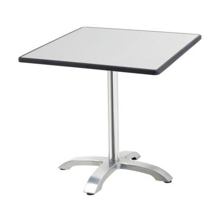 "Diamond Garden Tisch ""Cella"", Gestell Aluminium, Tischplatte DiGalit, Metall gebürstet, 70x70 cm"