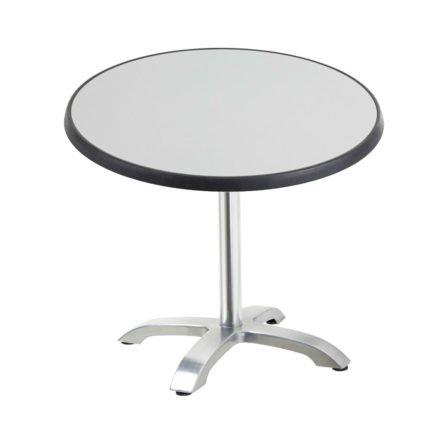 "Diamond Garden Tisch ""Cella"", Gestell Aluminium, Tischplatte DiGalit, Metall gebürstet, Ø 70 cm"