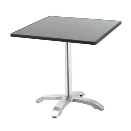 "Diamond Garden Tisch ""Cella"", Gestell Aluminium, Tischplatte DiGalit, Pizarra, 70x70 cm"