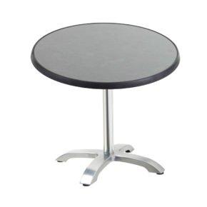 "Diamond Garden Tisch ""Cella"", Gestell Aluminium, Tischplatte DiGalit, Pizarra, Ø 70 cm"